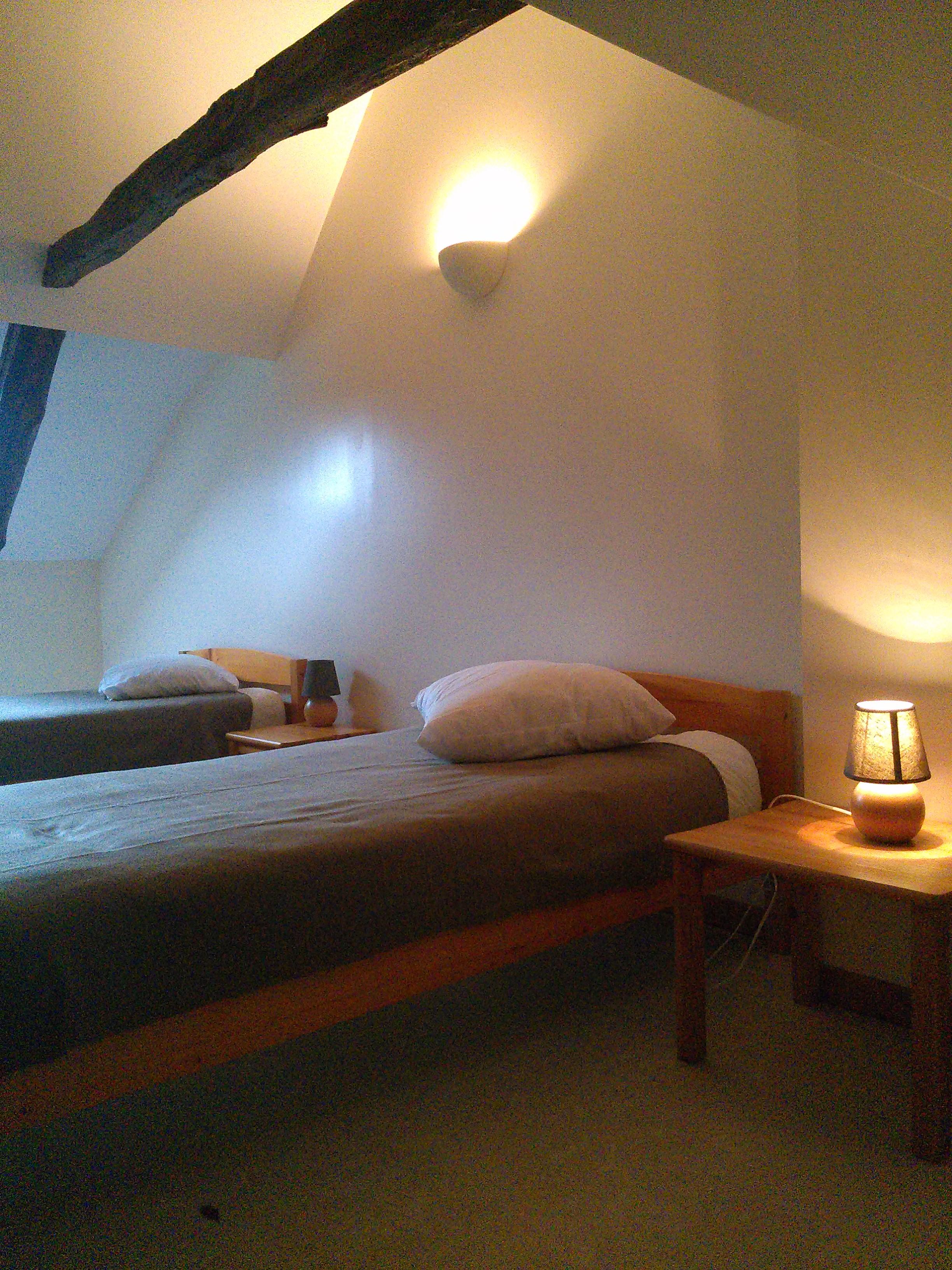 chambre en étage gite 2étoiles en Auvergne