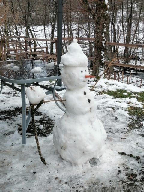 Bonhomme de neige de Cantal Emotions