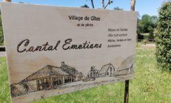 Panneau d'accueil Cantal Emotions